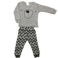 Baju tidur anak laki laki Piyama Boy GAP Hongkong Bear Zigzag Grey