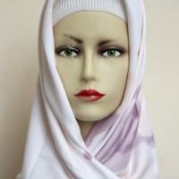 Jilbab Kerudung Hijab Segi Empat Maxmara Motif Ombre Latte