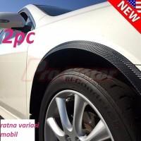 PROMO Lips Fender Motif Carbon Universal Lips Spakbor Mobil List Fend