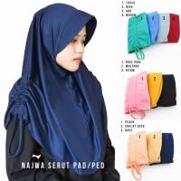 Jilbab Instan Najwa Pad/Ped Serut - Hijab Instan Kerudung Khimar
