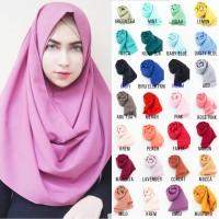 Hijab Pashmina Instan Sabrina Jilbab Khimar Kerudung Pastan 1 Lubang