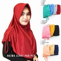 Hijab Instan Najwa Pad/Ped Serut - Jilbab Instan Khimar Instan