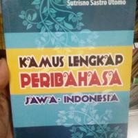 ORIGINAL BUKU KAMUS LENGKAP PERIBAHASA JAWA INDONESIA BUKU BAHASA