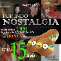 PAKET LAGU KARAOKE POP INDO NOSTALGIA 15 DVD 1400LEBIH & BONUS MENANTI