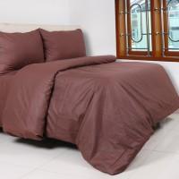 Sprei Dan Bed Cover Katun Polos Coklat Uk 120 x 200 x 20
