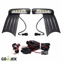 OTOmobil Lampu DRL LED Honda Jazz 2012 Fog Lamp Cover Modifikasi Ext