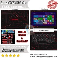Garskin Laptop Full Body Lenovo Ideapad 320 14'' Series Motif Circuid