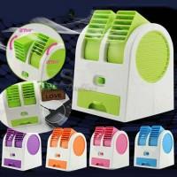 Kipas Angin Model AC Portable Mini Duduk Double Fan Kecil Kotak MURAH