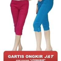 Celana Pendek Wanita 7/9 Katun Stretch