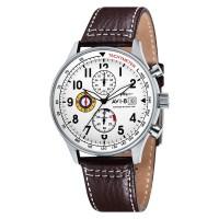 AVI-8 Man AV-4011-01 Hawker Hurricane Watch White Dial Brown Leather S