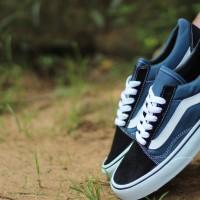 Sepatu Vans OldSkol Navy Premium Sepatu Kets Sepatu Sneakers