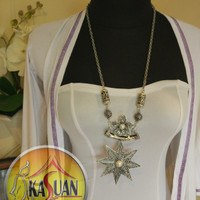 Harga kalung etnik bunga rante alpaka bali | Pembandingharga.com