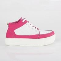 Terbaru - Sneaker boots wanita pink putih - Sepatu Kekinian BK distro