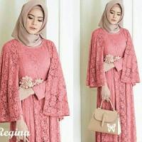 Jual GB Maxi dress Brukat Pesta /Gamis Brukat /Baju Muslim Terbaru Regina Murah