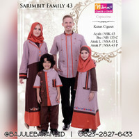 Baju Muslim Sarimbit Keluarga Nibras Family 43 Coklat Setelan Katun