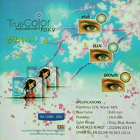 SOFTLENS FOXY BY TRUE COLOR / SOFT LENS FOXY (GRAY)