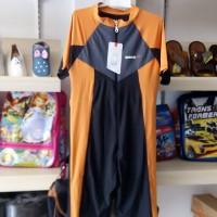 Baju renang model selam laki perempuan SPEEDO HItam kombinasi  polos
