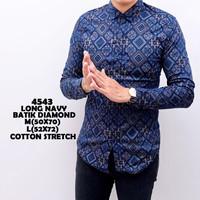 Kemeja Batik Pria Panjang Slimfit Katun / Baju Batik