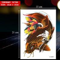 TEMPORARY TATTOO IKAN KOI 3D UKURAN BESAR / TATO TEMPORER, XDL-373