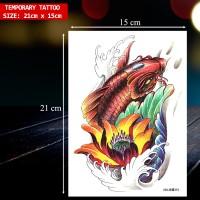 TEMPORARY TATTOO IKAN KOI UKURAN BESAR / TATO TEMPORER MURAH, X-366