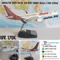 MURAH!!!! MINIATUR PESAWAT DIECAST BATIK AIR BOEING 737-900ER SKALA
