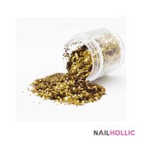Gold glitter sequins / nail art decoration