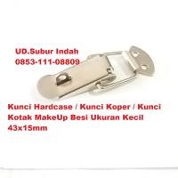 Kunci Hardcase/Kunci Koper/Kunci Kotak MakeUp Besi Ukuran Kecil 43x15
