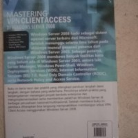 MASTERING VPN CLIENT ACCESS DI WINDOWS SERVER 2008 BUKU KOMPUTER