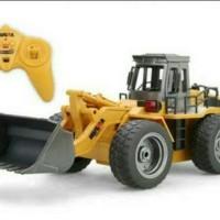 Berkualitas HuiNa Toys1520 6 Channel 1 14 RC Metal Bulldozer