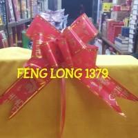(Dijamin) Pita Tarik Shuang Xi Merah No.4 Seri Naga Hong
