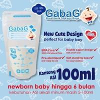 Jual #Set Peralatan Makan Bayi Kantong Asi Gabag BPA Free 30 pcs 100ml Boy Murah