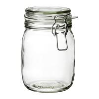 Ikea Korken ~ Jar with lid ~ clear glass / Toples Kaca Murah