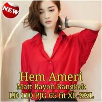 Baju Kemeja Wanita [ Hem Ameri Sw] pakaian wanita kemeja warna merah