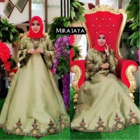TERLARIS Gamis Frozen /Princes Taveta Bordir Mira Jaya ( Meisha