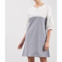 Fashion Wanita baju cewek pakaian wanita dress mini dua warna putih