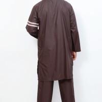 Sepasang Muslim Gamis Cowok Nabawi Coklat Kopi AL-ISRA Ready