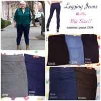 Celana Murah Celana Jeans Wanita Pinggang Karet JUMBO SIZE 35 - 40
