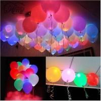 Lampu Balon LED Multifungsi 50PCS Rainbow Warna Warni