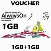Voucher Kuota++ Data 3/Tri/Three 1GB