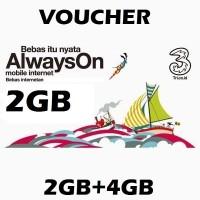 Voucher Kuota++ Data 3/Tri/Three 2GB