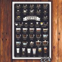 Jual HIASAN DINDING KAYU POSTER  WALL HOME DECORATION CAFE COFFEE VINTAGE  Murah
