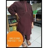 Baju Muslim Anak / Gamis Set Anak Laki-Laki Usia 5-6 Tahun | Maroon