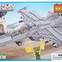 Mainan Edukasi Lego Bricks Army Action Fighter Jet Plane COGO 3318