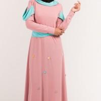 baju gamis wanita baju muslim wanita terbaru konsep rainforest elega