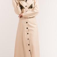 baju gamis wanita baju muslim wanita terbaru konsep minimalis elegan