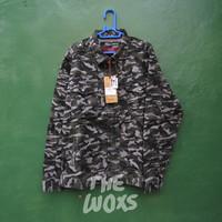Jaket Loreng Army Look Original Emba Casual Warna Hijau Size M & L