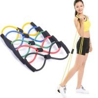 Tali Bantu Olahraga/ Tali gym fitnes/ Tali Pilates Stretch Rope/ Alat