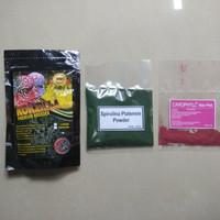 Paket carophyl pink 3gr & spirulina bubuk 25gr & kokzilla yellow