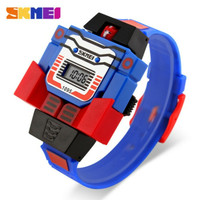 SKMEI jam tangan anak robot original 1095 biru transformer
