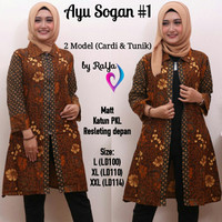Ayu Sogan #1 Tunik Cardigan batik model jumbo terkini harga grosir